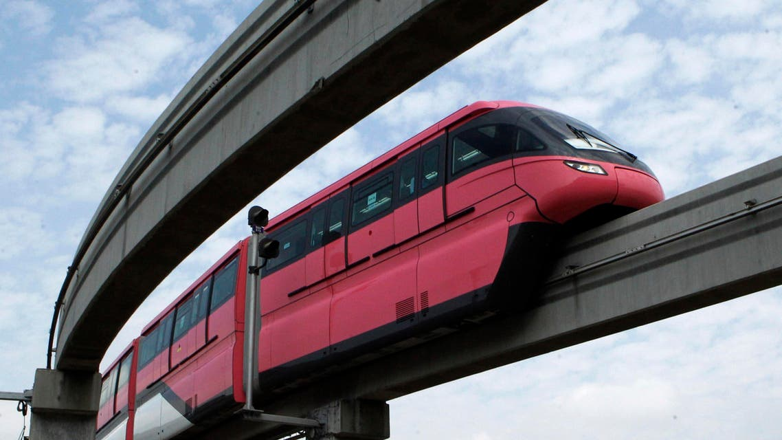 Egypt plans to build a monorail Cairo, following similar projects in cities like Mumbai (pictured) in India. (AP)
