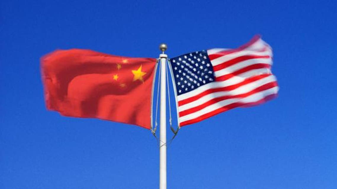 علم الصين و علم أمريكا