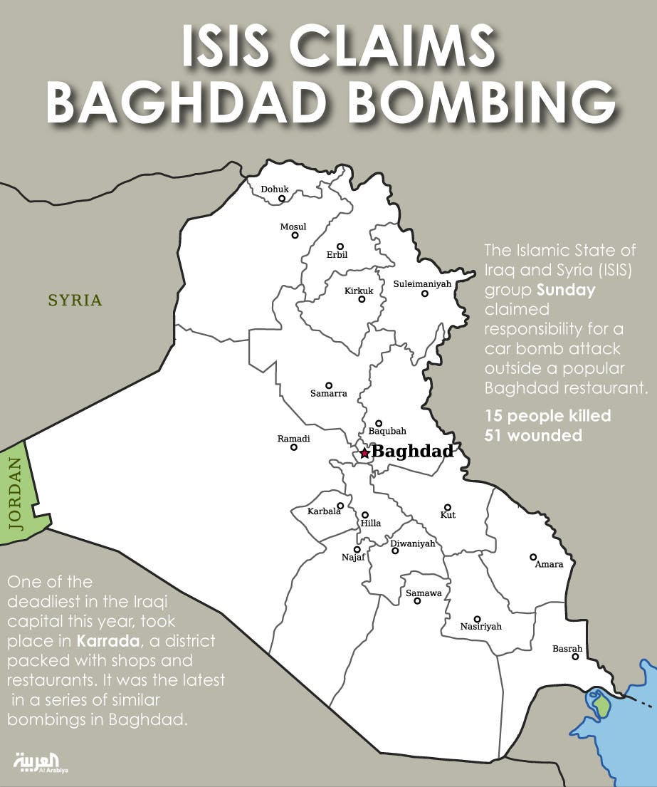 Infographic: ISIS claims Baghdad bombing
