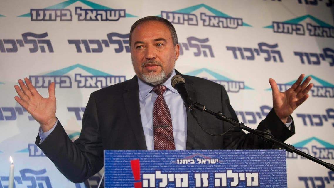 Israel's Foreign Minister Avigdor Lieberman speaks to the media during an event in Tel Aviv, Israel. (File: AP)