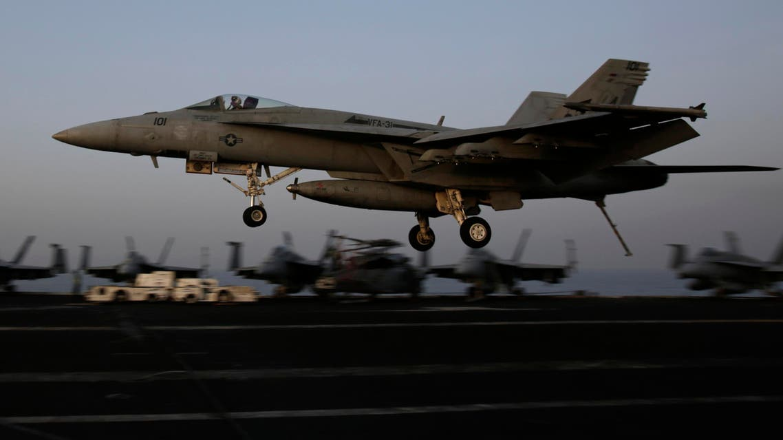 syria strike isis us plane ap