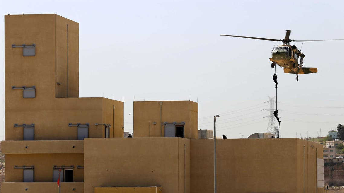 International troops suit up for Jordan war games (AP)