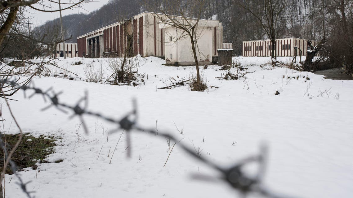 This photo taken on Saturday, March 7, 2015 shows a now abandoned warehouse where over 1,000 Muslim Bosniak men and boys had been killed in July 1995 in the village of Kravica on the outskirts of Srebrenica, 150 kms northeast of Sarajevo. Prosecutors tell The Associated Press they have made Serbia's first arrests of people suspected of carrying out the 1995 Srebrenica massacre of Bosnian Muslims, Europe's worst civilian slaughter since World War II. (AP Photo/Sulejman Omerbasic)
