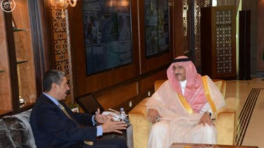 ولي العهد يناقش الأوضاع اليمنية مع بحاح وولد الشيخ
