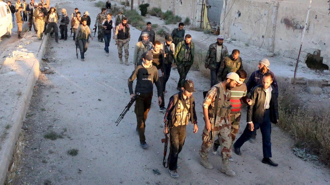 Rebels fighting in Syria (AP)