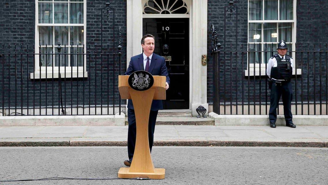 ديفيد كاميرون بعد فوزه في الانتخابات البريطانية