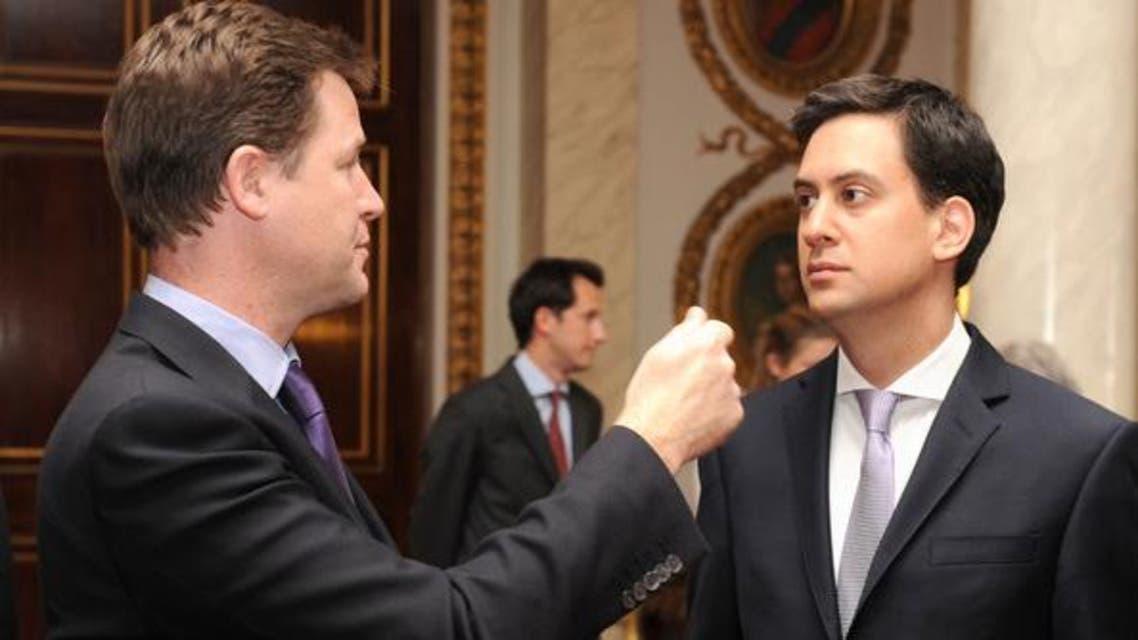 Ed Miliband and Nick Clegg