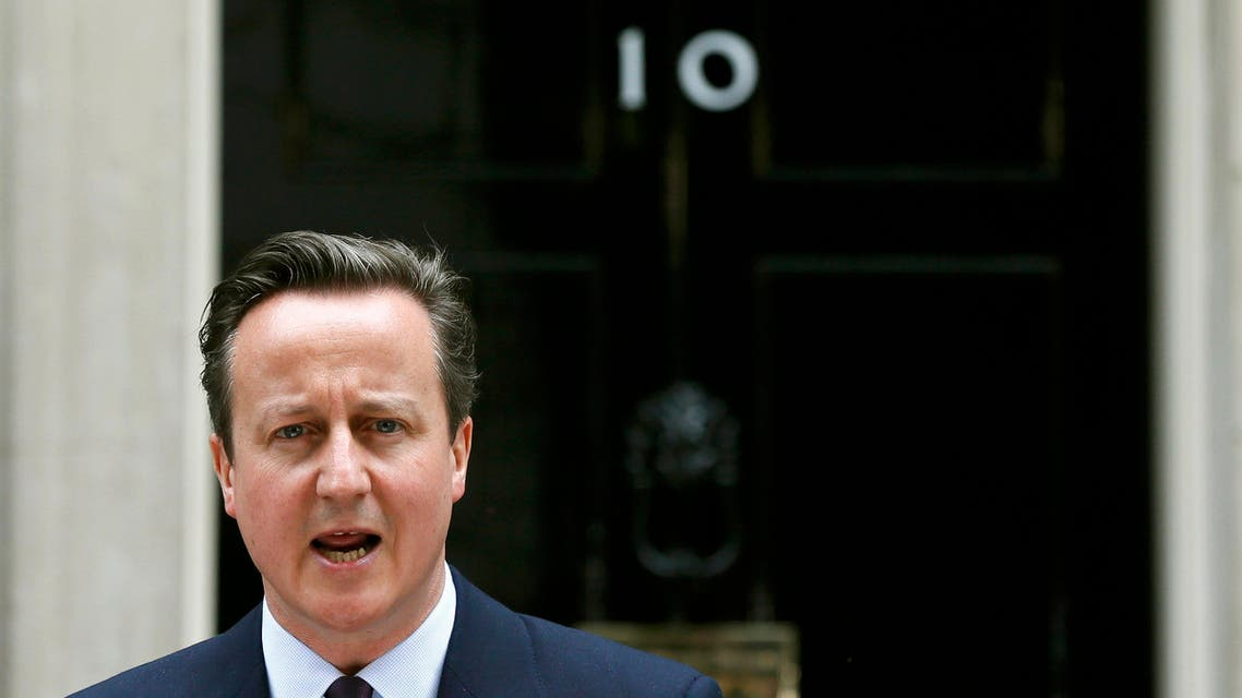 Britain's Prime Minister David Cameron speaks outside Number 10 Downing Street to announce he will form a new majority goverment in London, Britain May 8, 2015. Cameron won a stunning election victory in Britain, overturning poll predictions that the vote would be the closest in decades to sweep easily into office for another five years, with his Labour opponents in tatters. REUTERS/Stefan Wermuth