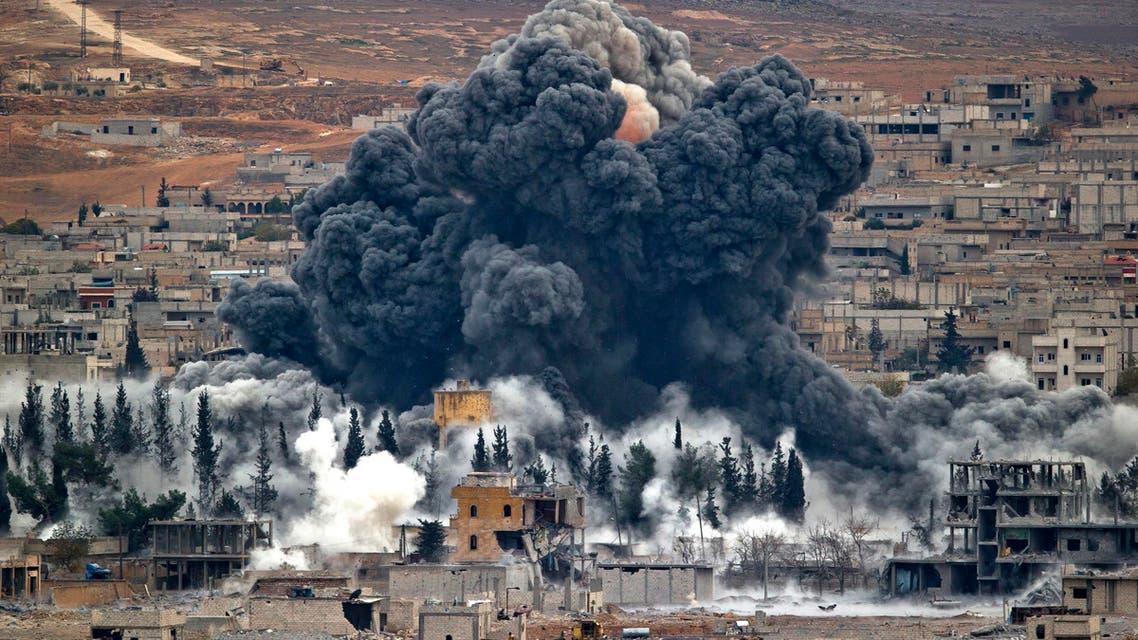 airstrike Syria AP