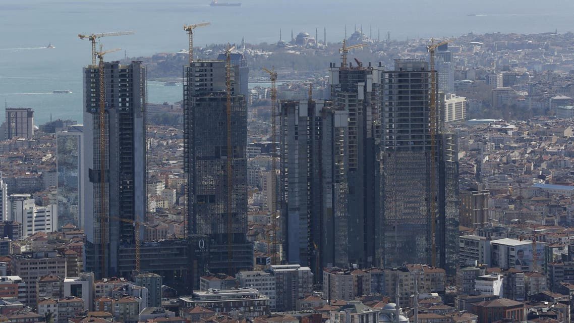 New skyscrapers under construction are pictured in Istanbul, Turkey, on April 10, 2015. (Reuters)