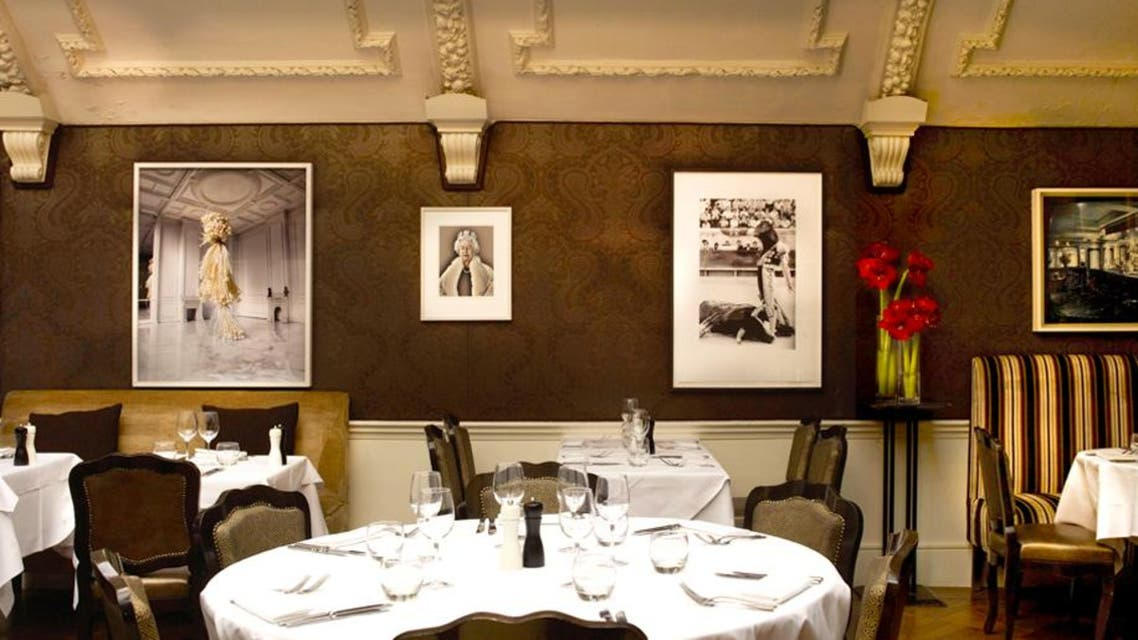 The dining room at the famous private-members' club. (Photo courtesy: Groucho Club)