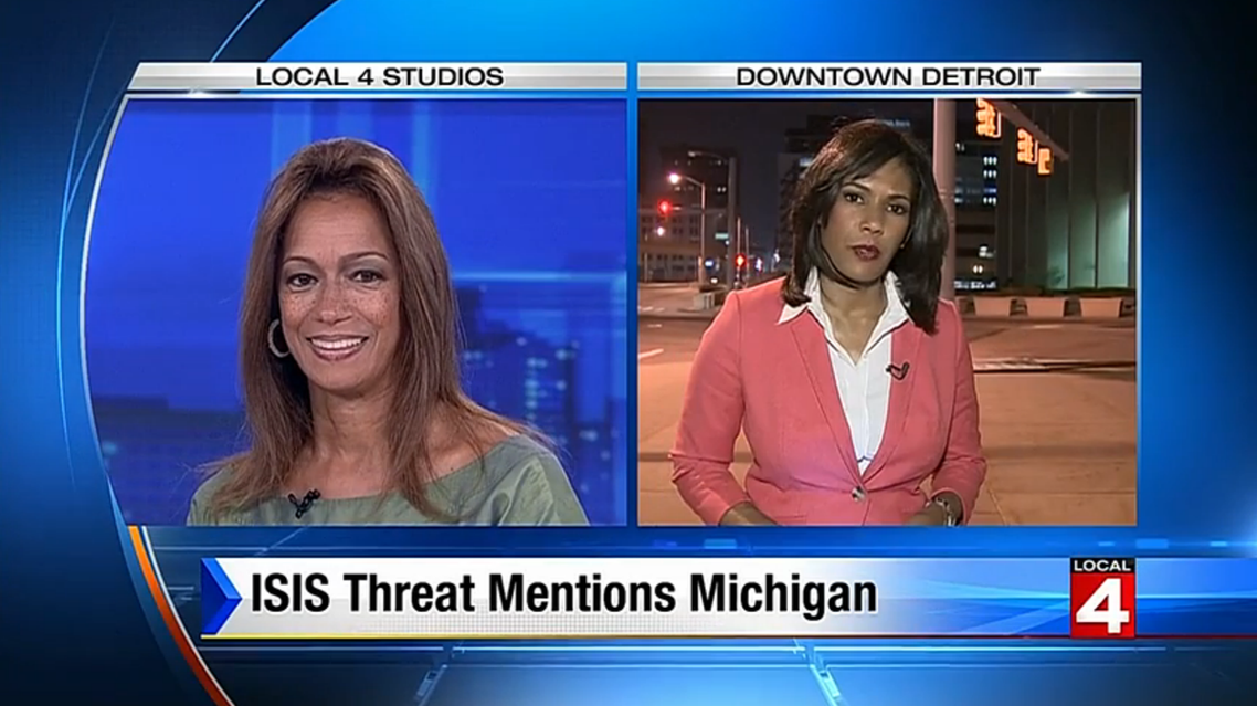 Anchor Carmen Harlan made the controversial remark on Wednesday. (WDIV-TV Local 4)