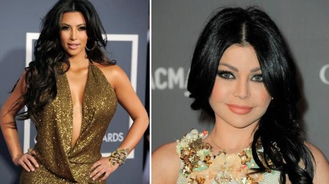 Could Armenian beauty Kim Kardashian or Lebanese singer and model Haifa Wehbe have anything to do with these nationalities being among the top ten sexiest? (File photo: AP)
