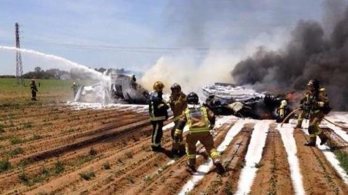 تحطم طائرة عسكرية في إسبانيا