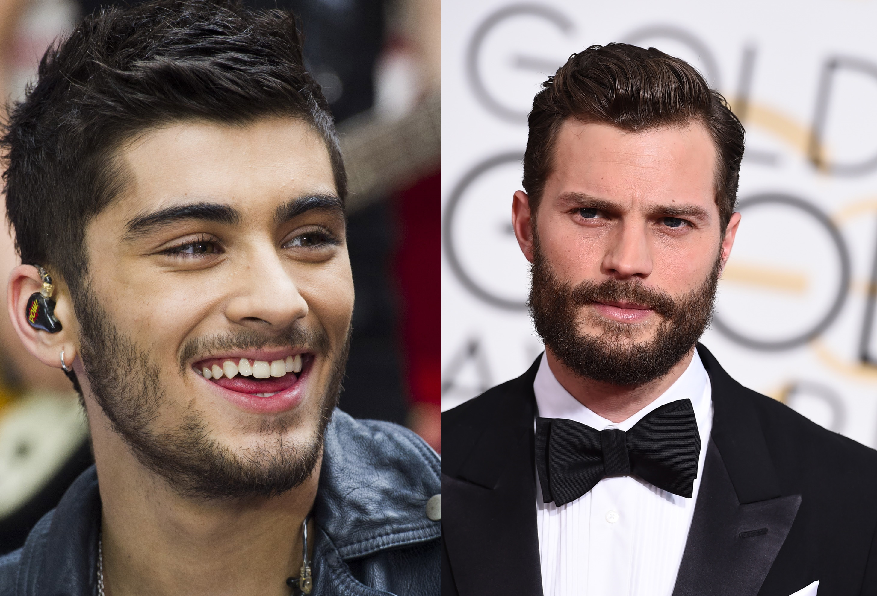 Jamie Dornan and Zayn Malik AP