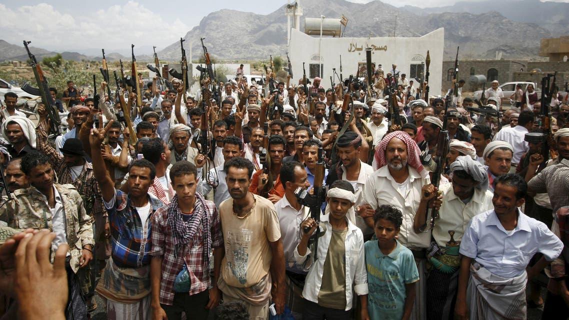 تجمع للقبائل في تعز - اليمن 3