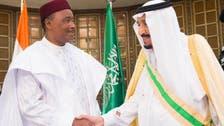 King Salman and Niger's president hold talks in Riyadh