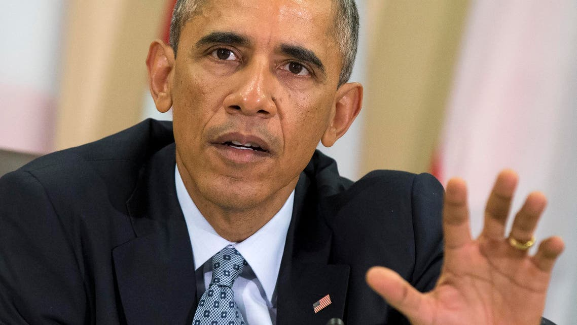 President Barack Obama speaks during a meeting with more than 20 foreign defense ministers on the ongoing operations against ISIS, Tuesday, Oct. 14, 2014. (AP)