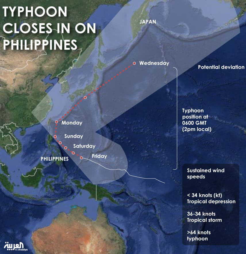 Infographic: Typhoon closes in on Philippines