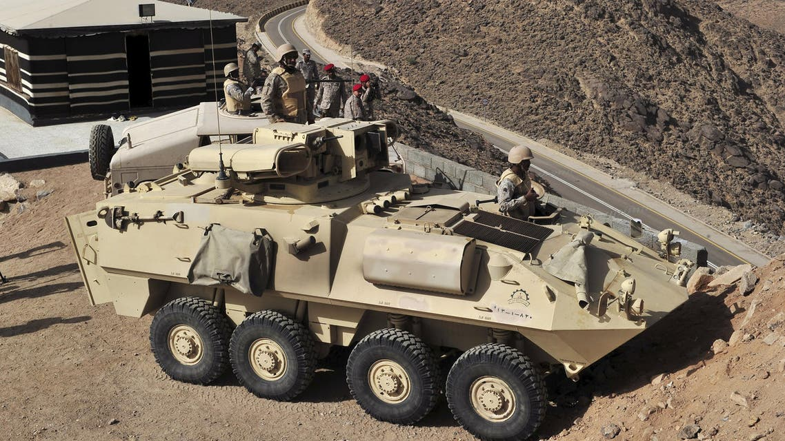 Saudi army are seen deployed along the Saudi border with Yemen - Reuters