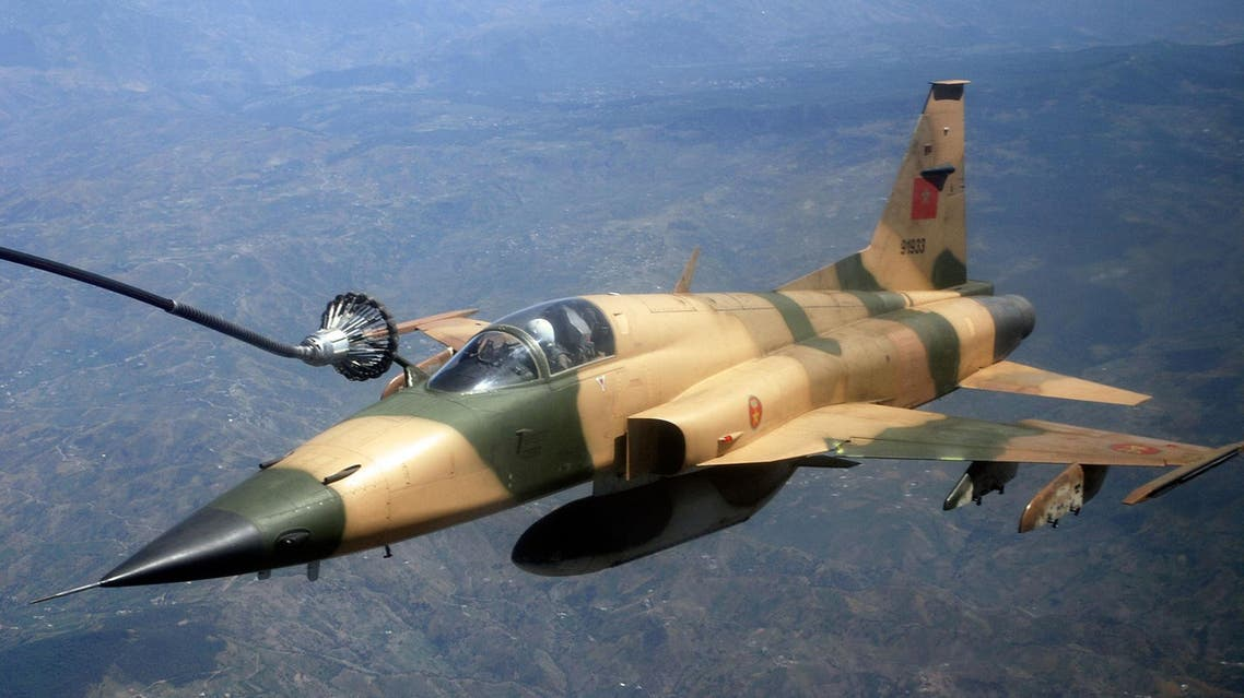 Royal Moroccan Air Force F-5E Tiger III during an aerial refueling mission in Africa. (File photo: wikimedia)