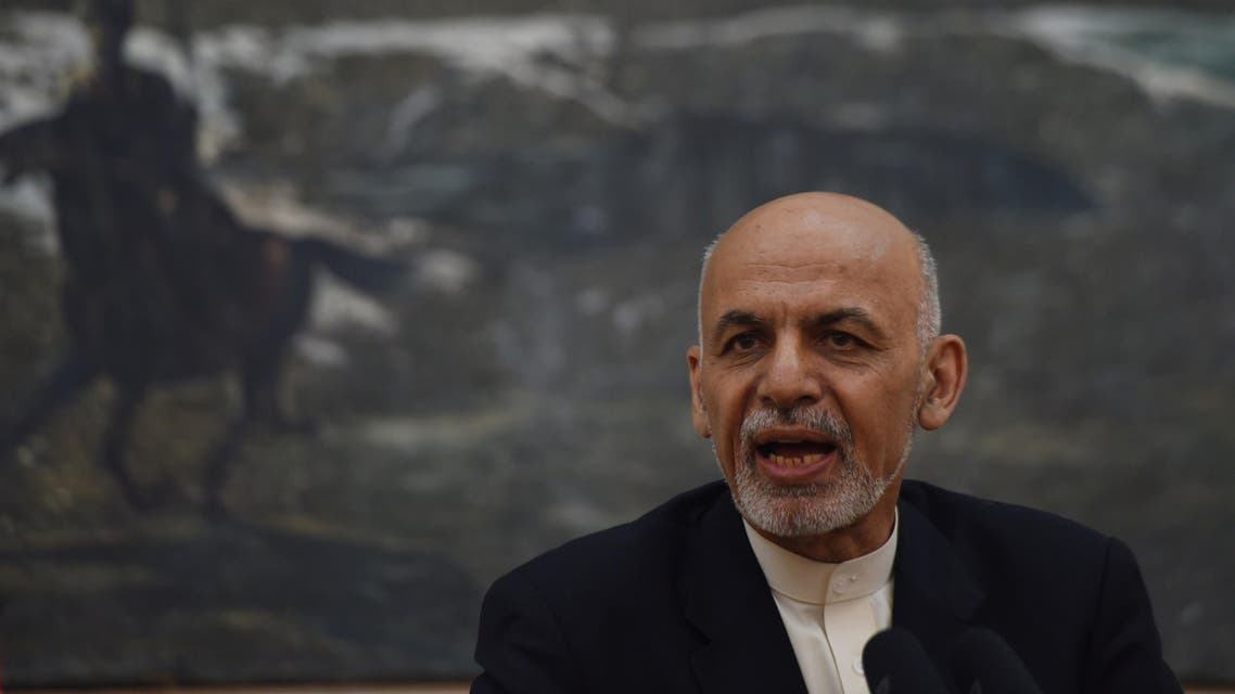 Afghan President Ashraf Ghani speaks during a press conference at the Presidential palace in Kabul on May 11, 2015. (AFP)