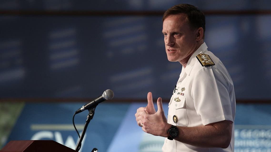 Admiral Michael Rogers, commander of U.S. Cyber Command and director of the National Security Agency, speaks at George Washington University May 11, 2015 in Washington, DC. (AFP)