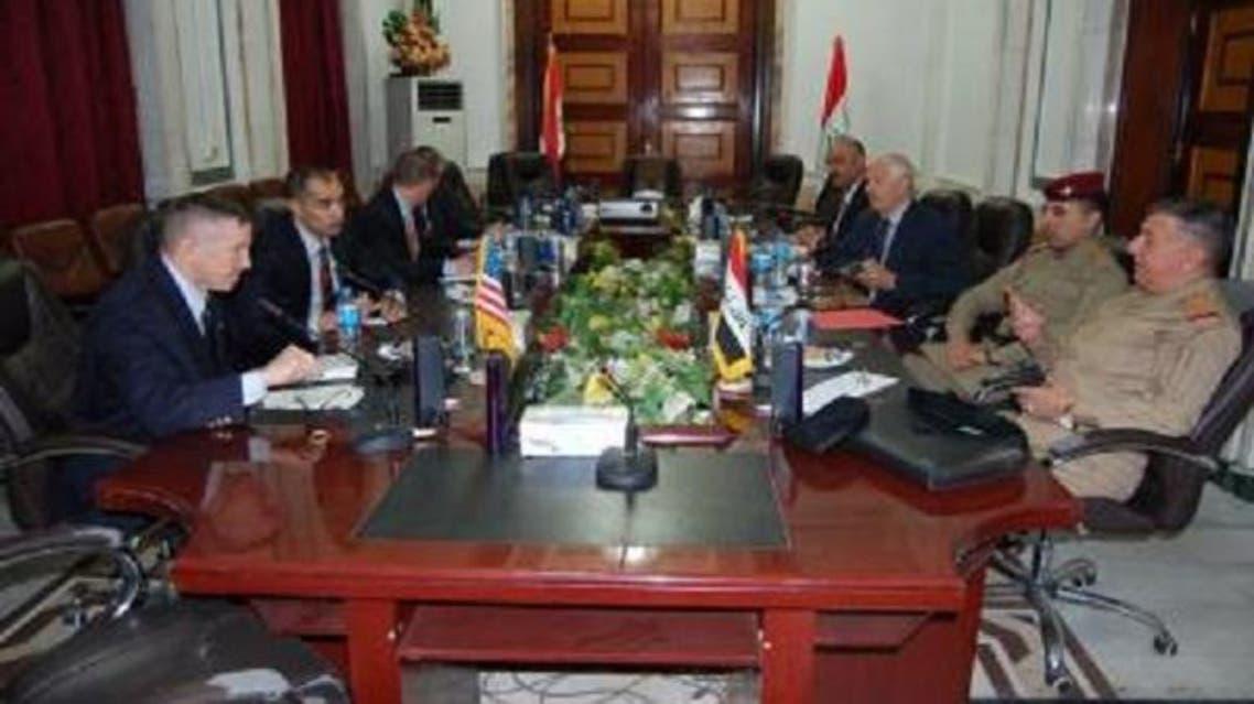 اجتماع بين قادة الجيش العراقي والجيش الأميركي
