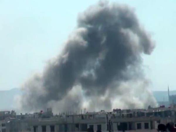 أكثر من 25 صاروخاً يطال عين ترما في الغوطة الشرقية