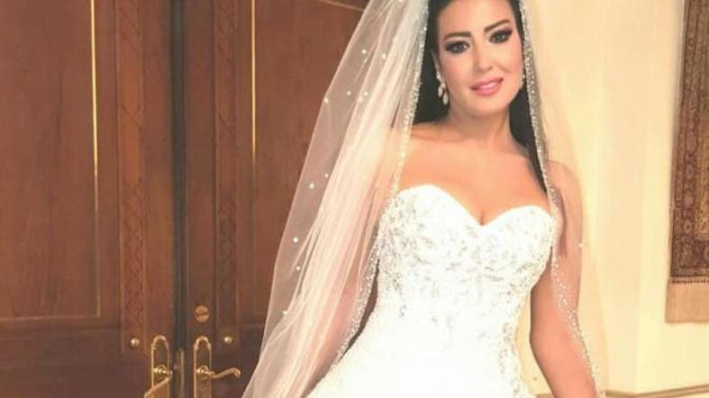 egyptian actress dons worlds most expensive wedding dress