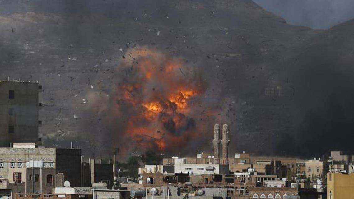 التحالف يقصف الحوثيون