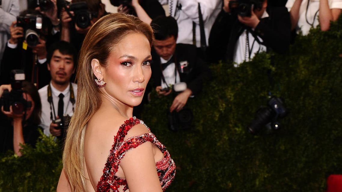 "Jennifer Lopez arrives at The Metropolitan Museum of Art's Costume Institute benefit gala celebrating ""China: Through the Looking Glass"" on Monday, May 4, 2015,"