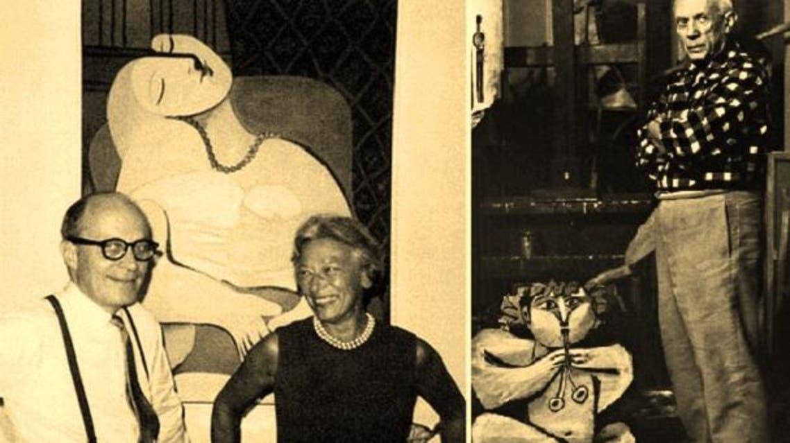 بيكاسو والزوجان غرانتس، بائعا اللوحة لرجل الأعمال السعودي