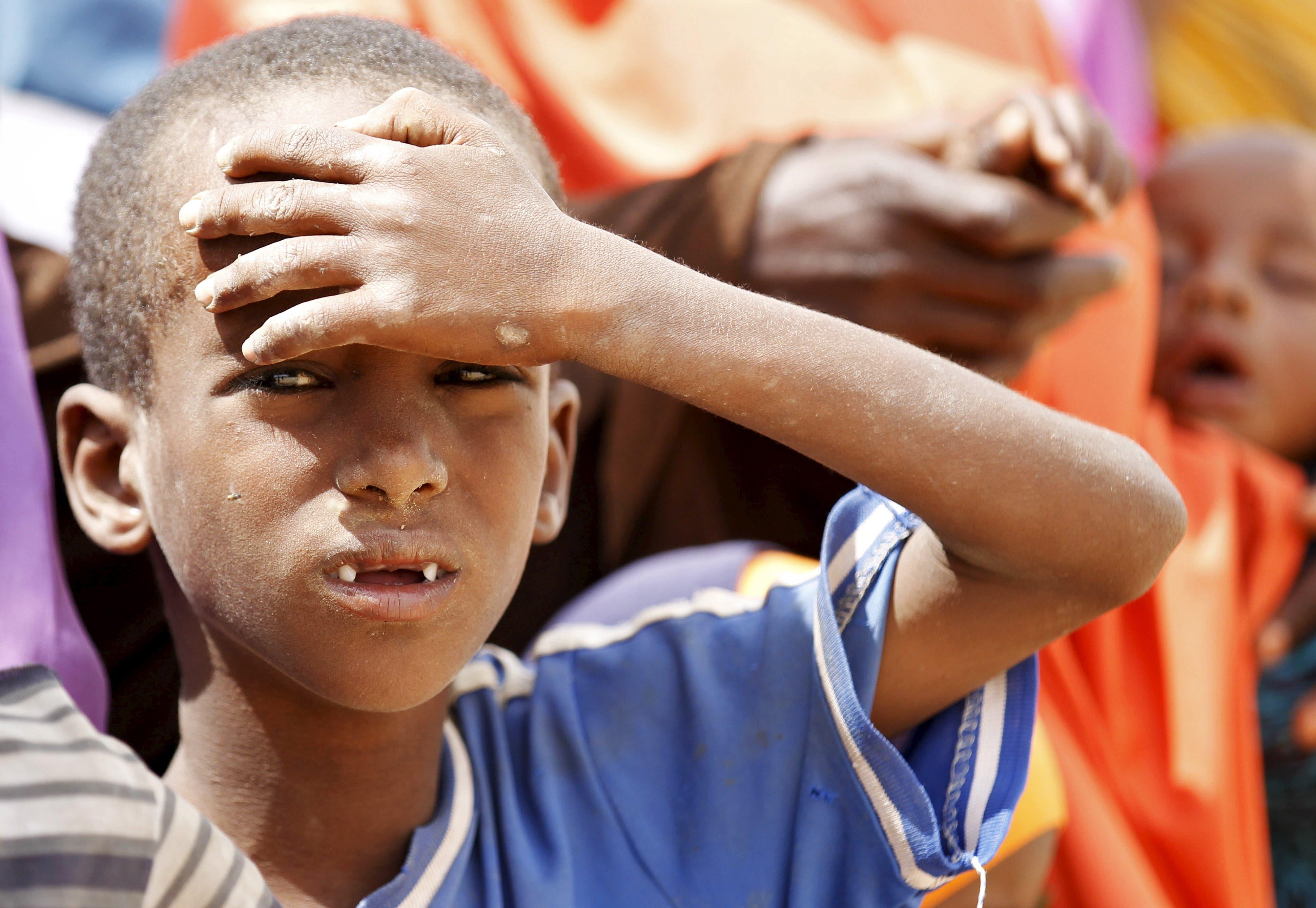 Somali refugees at the Kenya border