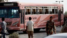 Gunmen kill 45 Shiite Muslims riding on a bus in Pakistan