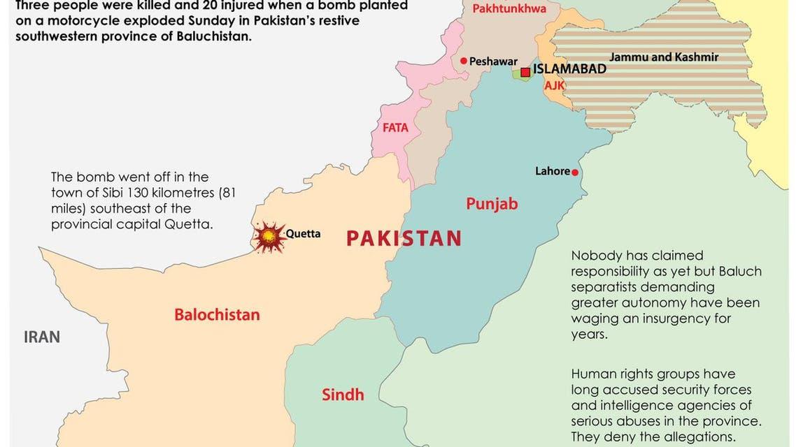 bomb blast in southwest pakistan infographic
