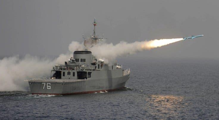 Iran naval drill missile testing Reuters