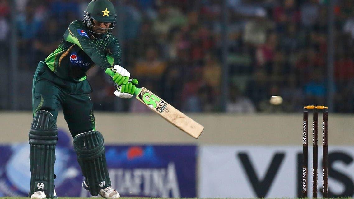 Pakistan's Haris Sohail plays a shot during the Twenty20 international cricket match against Bangladesh iPakistan's Haris Sohail plays a shot during the Twenty20 international cricket match against Bangladesh in Dhaka, Bangladesh, Friday, April 24, 2015. (AP)