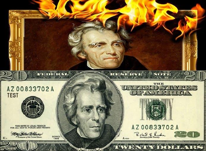 أندرو جاكسون، الطارد الشهير لسكان أميركا الأصليين من أراضيهم، وصورته على العشرين دولارا