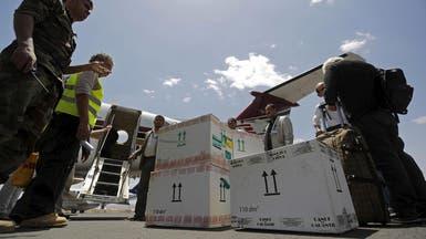 تدفق المساعدات على اليمن مع صمود الهدنة بشكل عام