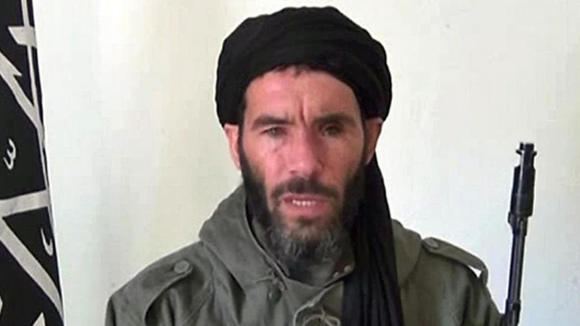 Undated image grab reportedly shows Algerian militant Mokhtar Belmokhtar speaking at an undisclosed location. (AFP)