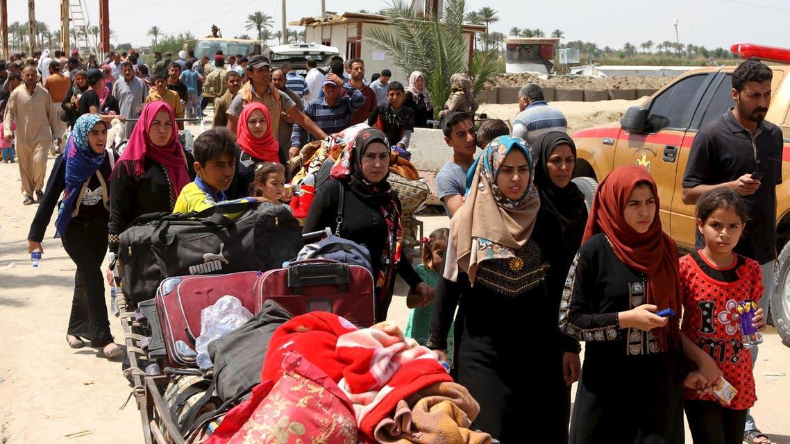 نزوح الأهالي - الرمادي - العراق 3