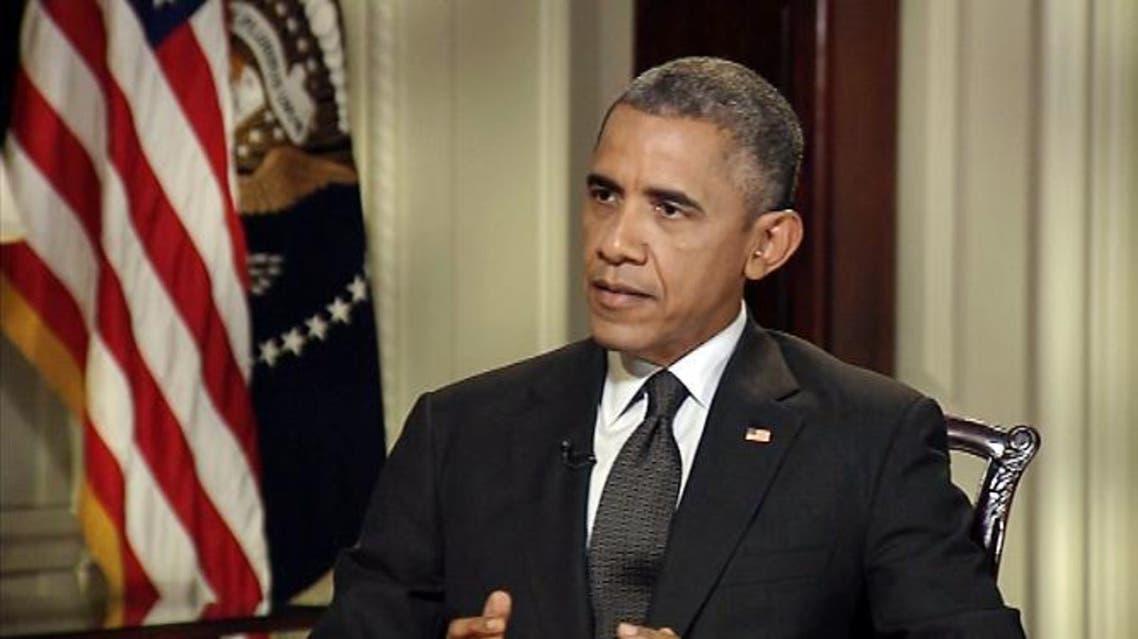 American President Barak Obama talking to AlArabiya