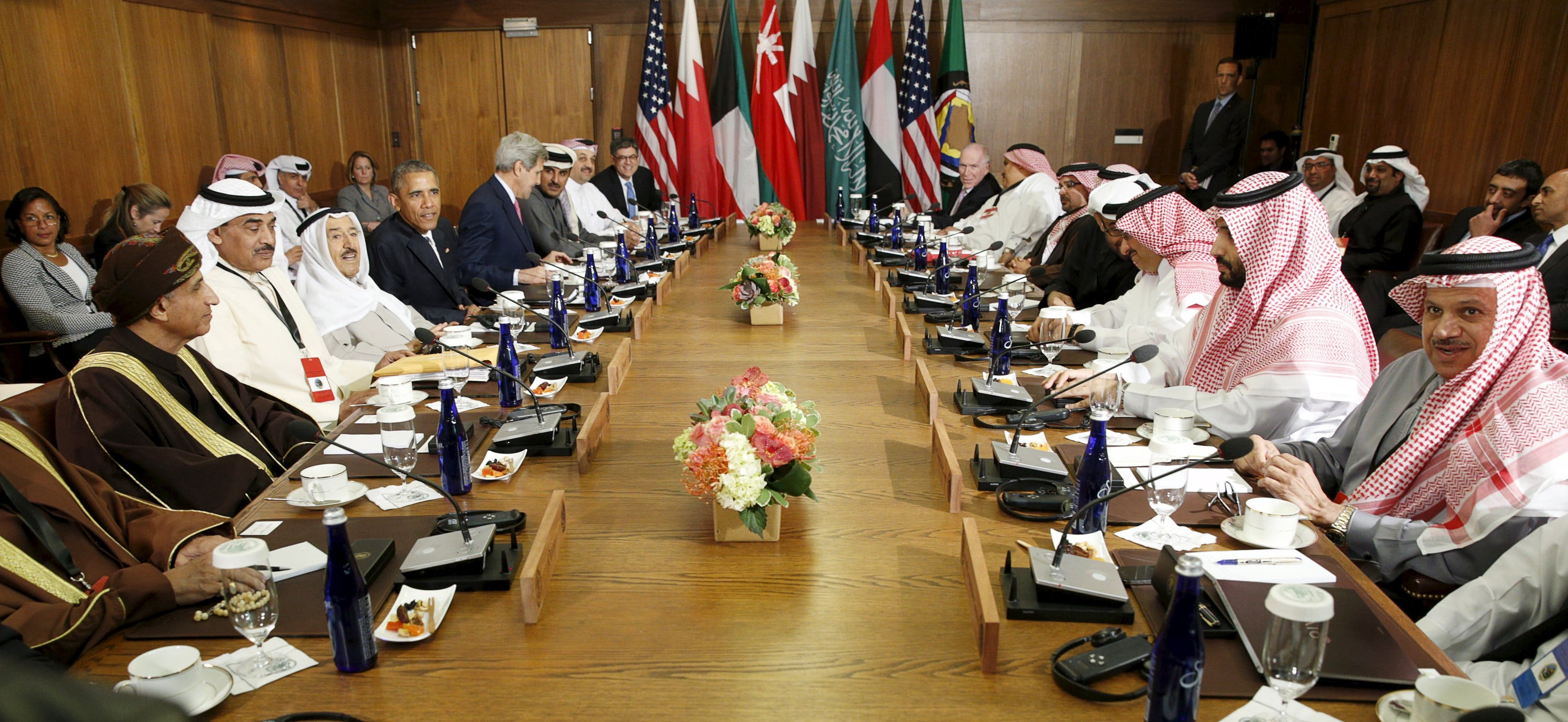 Obama hosts working session of six-nation Gulf Cooperation Council at Camp David in Maryland. (Reuters)