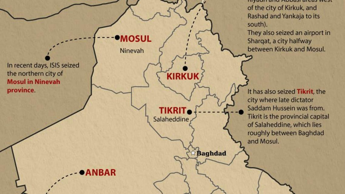 More Iraq territory falls to ISIS infographic