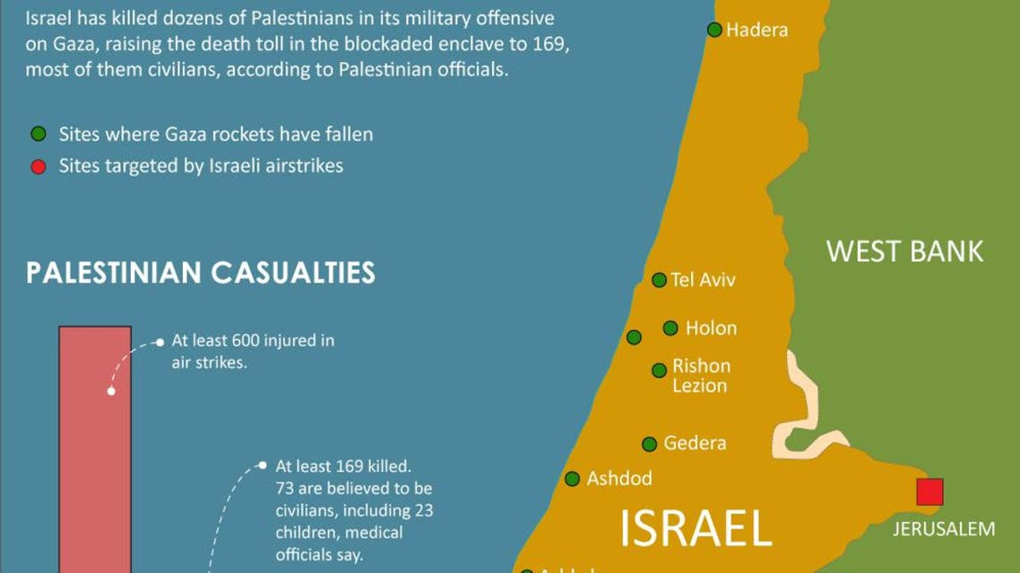 Death toll mounts in Israeli attacks on Gaza infographic