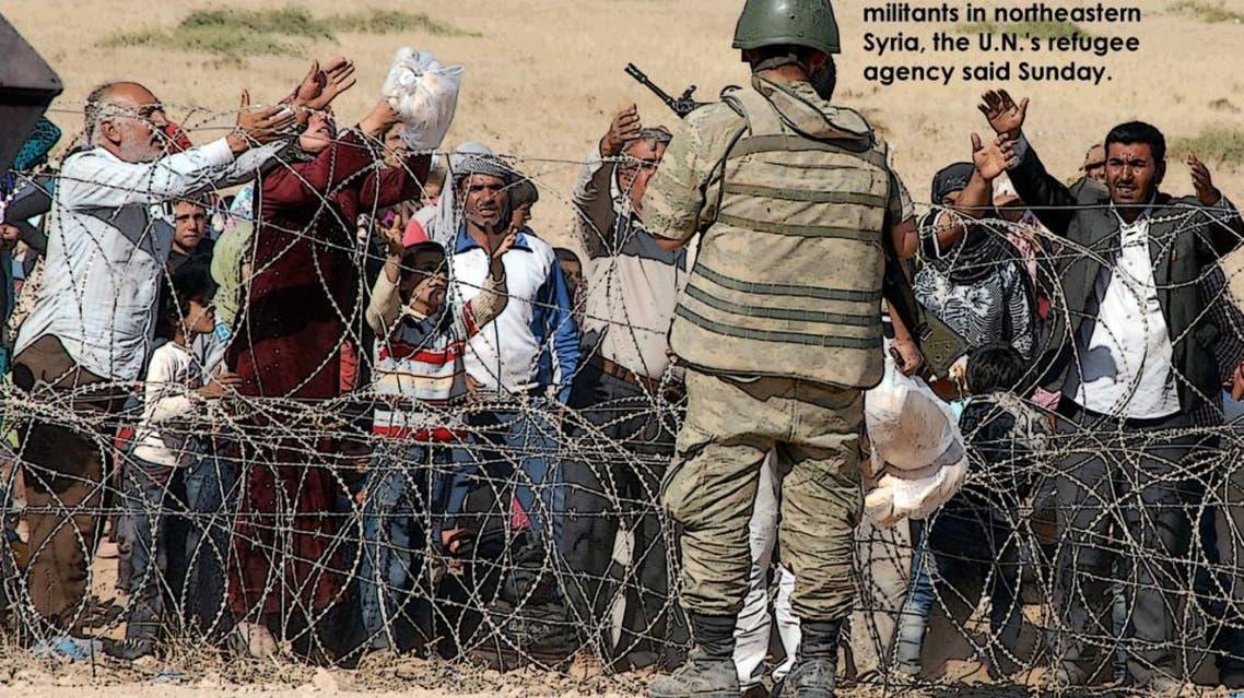 Syrian Kurds fleeing ISIS militants pour into Turkey infographic
