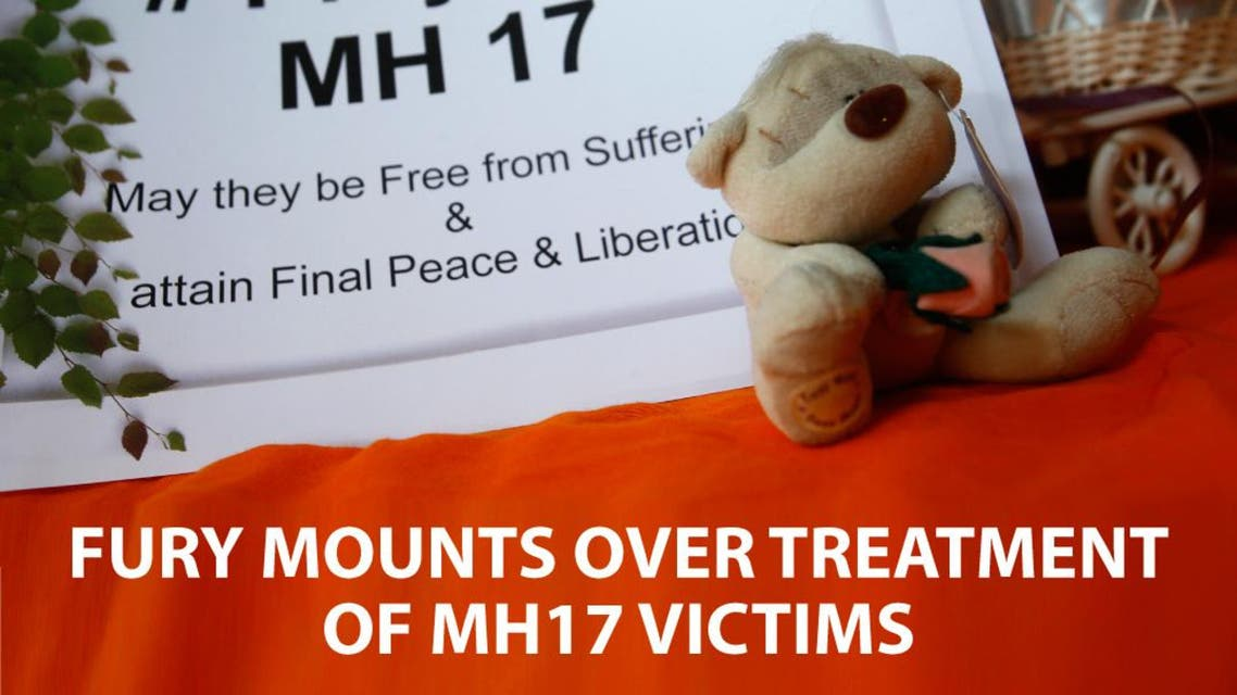 Fury mounts over treatment of MH17 victims infographic