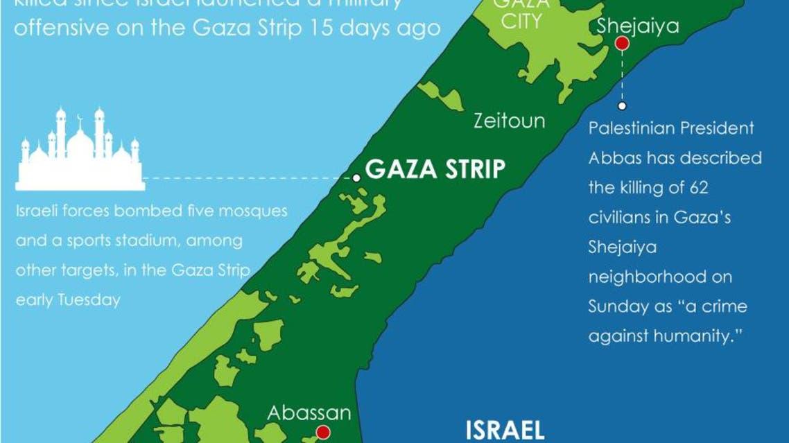 Gaza Strip offensive infographic