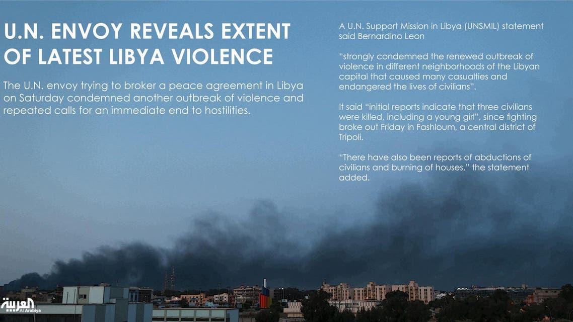 U.N. envoy reveals extent of latest Libya violence infographic